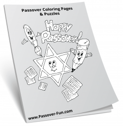 Passover coloring pages, dot-to-dot, word search puzzles